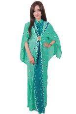 Batik Putri Ayu Solo Batik Gamis Cape C2-Hijau