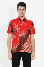 Batik Semar  Men Ethnic Wear  Pria Etnis Wear Red Merah Batik Diskon discount murah bazaar baju celana fashion brand branded