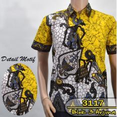 Batik Sofie 3117 Kemeja Batik Pria Motif Wayang Arjuna Warna Kuning