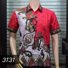 Batik Sofie 3131 Kemeja Batik Pria Motif Wayang Merah