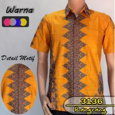 Jual Batik Sofie 3136 Kemeja Hem Batik Pria Motif Rangrang Kuning Online Jawa Timur