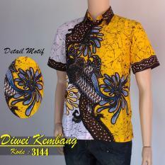 Batik Sofie 3144 Kemeja Hem Batik Pria Kuning