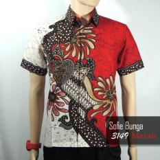 Batik Sofie 3149 Kemeja Hem Batik Pria Motif Bunga Sofie