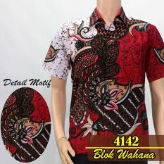 Batik Sofie 4142 Kemeja Batik Pria Motif Wahana Merah