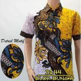 Jual Cepat Batik Sofie Kembang Kemeja Kondangan Pria Lengan Pendek Baju Hem Slimfit Printing Cap
