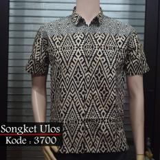 Jual Batik Solo 3700 Kemeja Pria Motif Ulos Branded Murah
