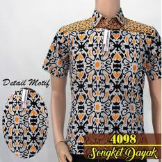 Batik Solo 4098 Kemeja Batik Pria Motif Songket Dayak