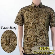 Batik Solo 4300 Kemeja Batik Pria Motif Asmat