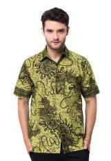 Batik Trusmi - Hem Katun Printing Motif Snail - Hijau Muda
