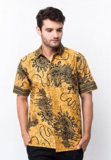 Batik Trusmi - Hem Katun Printing - Motif Snail - Kuning