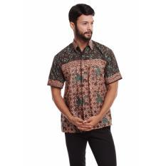 Batik Trusmi-Hem Keong PS-Hijau