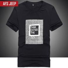 Battlefield Jeep brand T-shirt, T-shirt, men's pure color T-shirt, summer half sleeve T-shirt, male youth