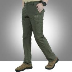 Medan Perang Model Musim Semi Pakaian Pria Kasual Tas Celana Him Kering (Tentara Hijau)