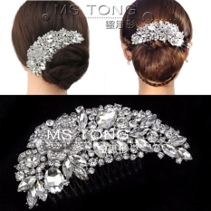 Diskon Batu Kristal Air Tarian Latin Super Flash Intensif Jepitan Rambut Model Sisir Mempelai Wanita Hiasan Rambut