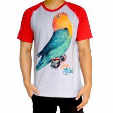 Beli Bawara Kaos Lovebird Reg 01 Abu Merah Bawara Asli