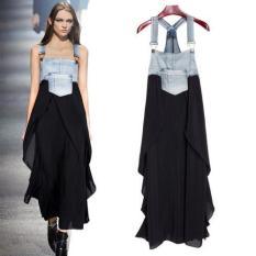 BB01 L Ukuran Baju Hamil Without Lengan Katun Pakaian Musim Panas untuk Wanita, China Hamil Imitasi Denim Disambung Satu Potong Pakaian