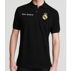 Just Cloth Kaos Polo Real Madrid A 011 - Hitam