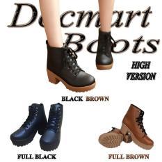 BD01 Sepatu Boots docmart Cewek Casual