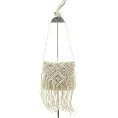 Harga Beach Bohemian Tassel Shoulder Bag Beige Asli