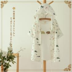 Spesifikasi Fashion Wanita Gaya Korea Wanita Beruang Hewan Cetak Cahaya Jas Jaket Linen Pakaian Bersepeda Internasional Lengkap