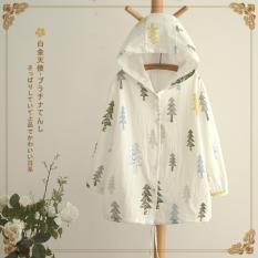 Harga Bear Fashion Wanita Lady Tree Cetak Mantel Kasual Musim Semi Musim Gugur Sembilan Titik Sleeve Tops Intl Bear Fashion Baru