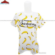 BearGrid Kaos Cewek Baby Terry Tumblr Tee / T-Shirt Thats Banana