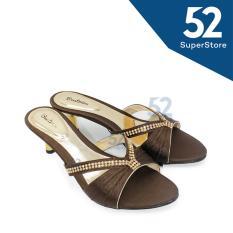 Beli Beatrice Sandal Heel Wanita M 503 Hak 5 Cm Brown Pakai Kartu Kredit