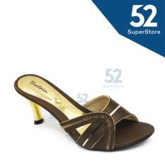 Beli Beatrice Sandal Heel Wanita M 705 Hak 7 Cm Brown Secara Angsuran