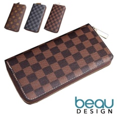 BEAU Design Dompet Pria Import Batam Branded Model Terbaru Kulit PU Zipper Leather Men Long Wallet