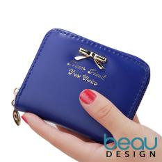 Beau Design Dompet Wanita Import Batam Branded Model Terbaru Kulit Small Ribbon Women Purse Wallet