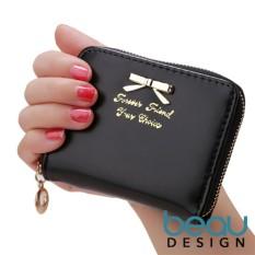 Beau Design Dompet Wanita Import Batam Branded Kulit Terbaru Small Ribbon Women Purse Wallet