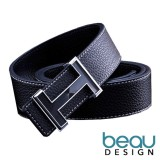 Miliki Segera Beau Design H Buckle Ikat Pinggang Sabuk Pria Quality Leather Men Belt
