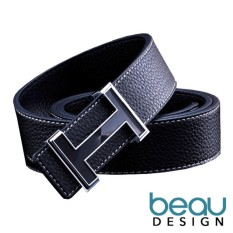 Toko Beau Design H Buckle Ikat Pinggang Sabuk Pria Quality Leather Men Belt Murah Di Jawa Barat