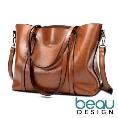 Beau Design Tas Wanita Import Batam Branded Selempang Terbaru Kulit Leather Selempang Bahu Cantik Cewek Tote Bags