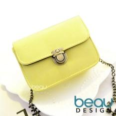 BEAU Design Tas Wanita Batam Branded Selempang Terbaru Retro Tas Bahu Sling Simple Buckle Bag