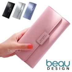 BEAU Dompet Wanita Import Batam Branded Model Terbaru Kulit Korea Forever Young PU Leather Women Purse Wallet