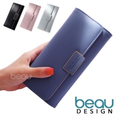 BEAU Dompet Wanita Import Batam Branded Model Terbaru Kulit Korea Forever Young PU Leather Women Purse Wallet