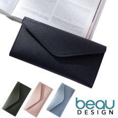 BEAU Dompet Wanita Import Batam Branded Model Terbaru Kulit Soft PU Leather Envelope Women Purse Wallet