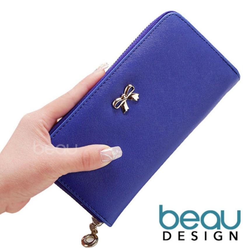 BEAU Dompet Wanita Import Batam Branded Model Terbaru Kulit Women Ribbon PU  Leather Purse Wallet 4f7ed18fde