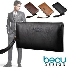 Beli Beau Jeep Buluo Quality Pu Leather Men Long Wallet Terbaru