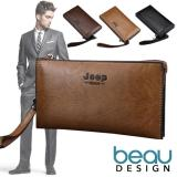 Harga Beau Jeep Buluo Quality Pu Leather Men Long Wallet Yang Murah