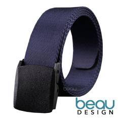 BEAU Pria Sabuk Men's Canvas Ikat Pinggang Metal Buckle Solid Belt