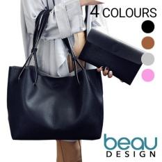 Pusat Jual Beli Beau Set Of 2 Tas Wanita Pu Leather Tote Bahu Shoulder Bags Dki Jakarta