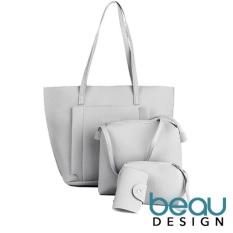Beli Beau Set Of 4 Tas Wanita Pu Leather Tote Bahu Shoulder Bags Murah