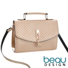BEAU Tas Wanita Import Kulit Batam Branded Selempang Terbaru Deer PU Leather Top Handle Sling Women Bags