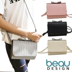 Situs Review Beau Tas Wanita Faux Crocodile Pu Leather Sling Bahu Bags