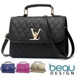 Harga Beau Tas Wanita Women Premium Pu Leather Top Handle Sling Bags Handbag