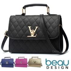 BEAU Tas Wanita Batam Branded Selempang Terbaru Kulit Import Women Premium PU Leather Top Handle Sl