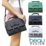 Beau Tas Wanita Women Ribbon Pu Leather Crossbody Sling Bags Murah