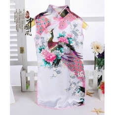Harga China Yang Indah Retro Kid Child G*rl S Baby Peacock Cheongsam Dress Qipao 1 8Y Pakaian Putih Ukuran 12 Intl Baru